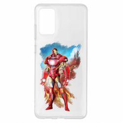 Чохол для Samsung S20+ Avengers iron man drawing