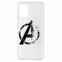 Чехол для Samsung S20+ Avengers logotype destruction