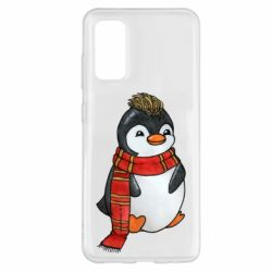 Чохол для Samsung S20 Baby penguin with a scarf