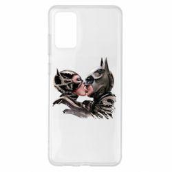 Чехол для Samsung S20+ Batman and Catwoman Kiss