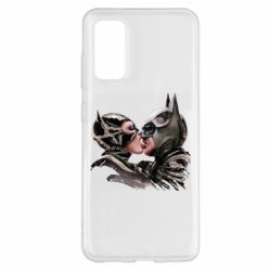 Чехол для Samsung S20 Batman and Catwoman Kiss