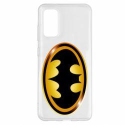 Чохол для Samsung S20 Batman logo Gold