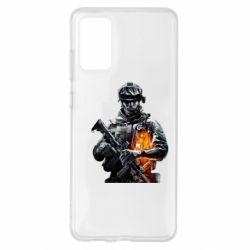 Чехол для Samsung S20+ Battlefield Warrior