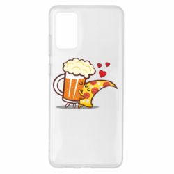 Чохол для Samsung S20+ Beer and Pizza were kissed