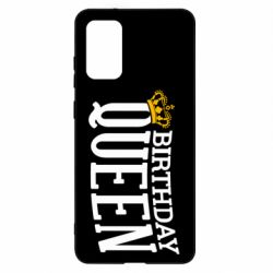 Чехол для Samsung S20+ Birthday queen and crown yellow