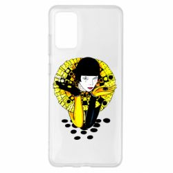 Чехол для Samsung S20+ Black and yellow clown