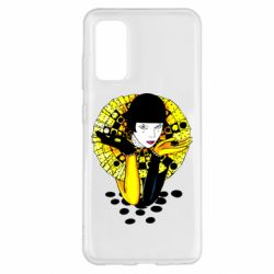 Чехол для Samsung S20 Black and yellow clown