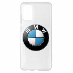 Чехол для Samsung S20+ BMW Logo 3D