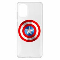 Чехол для Samsung S20+ Captain America 3D Shield