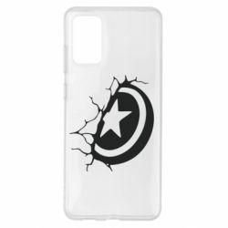 Чохол для Samsung S20+ Captain America shield
