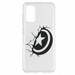 Чохол для Samsung S20 Captain America shield