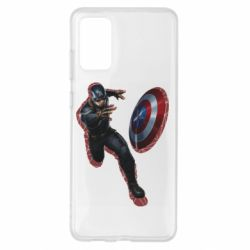 Чехол для Samsung S20+ Captain america with red shadow