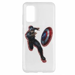Чехол для Samsung S20 Captain america with red shadow