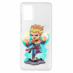 Чехол для Samsung S20+ Captain marvel hovers in the air