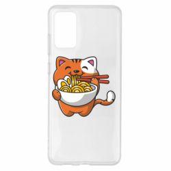 Чохол для Samsung S20+ Cat and Ramen