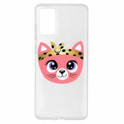 Чехол для Samsung S20+ Cat pink