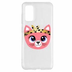 Чехол для Samsung S20 Cat pink