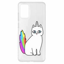 Чехол для Samsung S20+ Cat Unicorn