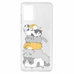 Чохол для Samsung S20+ Cats