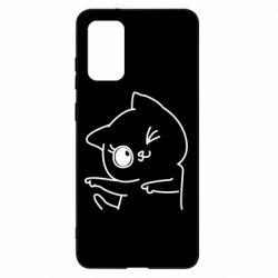 Чехол для Samsung S20+ Cheerful kitten