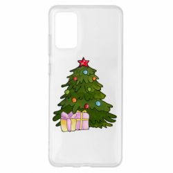 Чехол для Samsung S20+ Christmas tree and gifts art