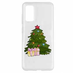 Чехол для Samsung S20 Christmas tree and gifts art