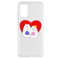 Чохол для Samsung S20 Couple Bears