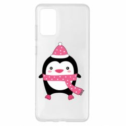 Чехол для Samsung S20+ Cute Christmas penguin