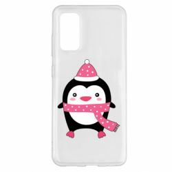 Чехол для Samsung S20 Cute Christmas penguin