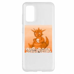 Чохол для Samsung S20 Cute dragon with skulls