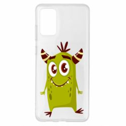 Чохол для Samsung S20+ Cute green monster