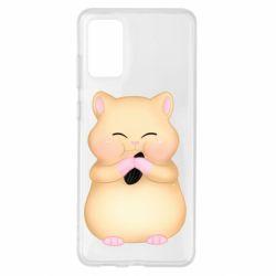 Чохол для Samsung S20+ Cute hamster with sunflower seed
