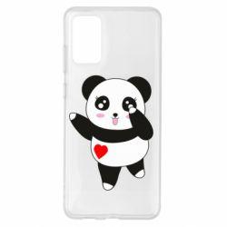 Чохол для Samsung S20+ Cute little panda