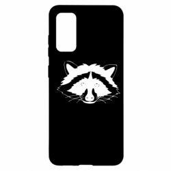 Чохол для Samsung S20 Cute raccoon face
