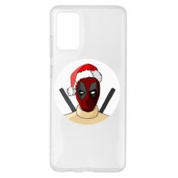 Чехол для Samsung S20+ Deadpool in New Year's hat