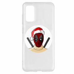 Чехол для Samsung S20 Deadpool in New Year's hat