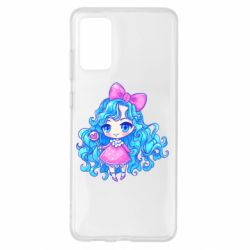 Чохол для Samsung S20+ Doll with blue hair