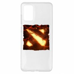 Чехол для Samsung S20+ Dota 2 Fire Logo