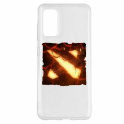 Чехол для Samsung S20 Dota 2 Fire Logo