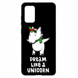 Чехол для Samsung S20+ Dream like a unicorn