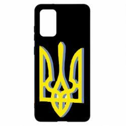 Чехол для Samsung S20+ Двокольоровий герб України