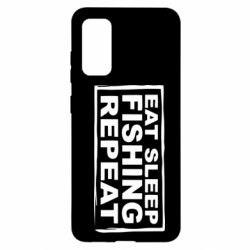 Чохол для Samsung S20 Eat, sleep, fishing