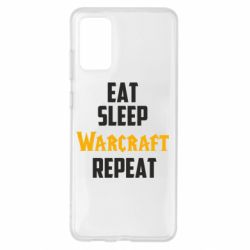 Чехол для Samsung S20+ Eat sleep Warcraft repeat