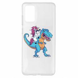 Чохол для Samsung S20+ Єдиноріг і динозавр