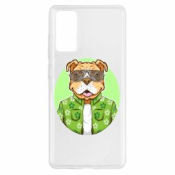 Чохол для Samsung S20 FE A dog with glasses and a shirt
