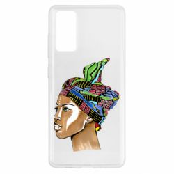 Чохол для Samsung S20 FE African girl in a color scarf