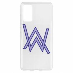 Чехол для Samsung S20 FE Alan Walker neon logo