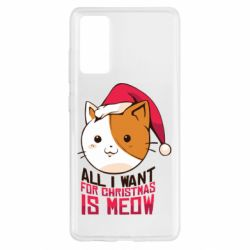 Чехол для Samsung S20 FE All i want for christmas is meow