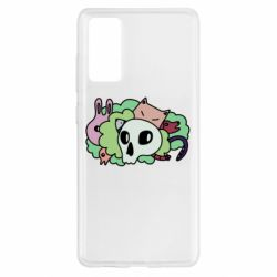 Чехол для Samsung S20 FE Animals and skull in the bushes