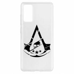 Чехол для Samsung S20 FE Assassin's Creed and skull 1